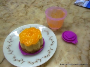 Eggless Mango Cheesecake - all set
