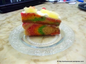 Eggless Rainbow Cake - pattern