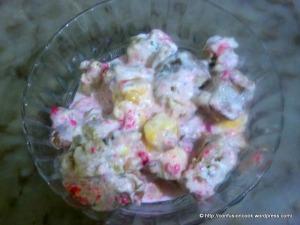 Mango Cake & Vanilla Ice-cream Pudding
