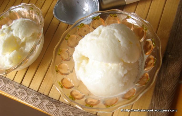 Mint & Tender Coconut Ice-cream