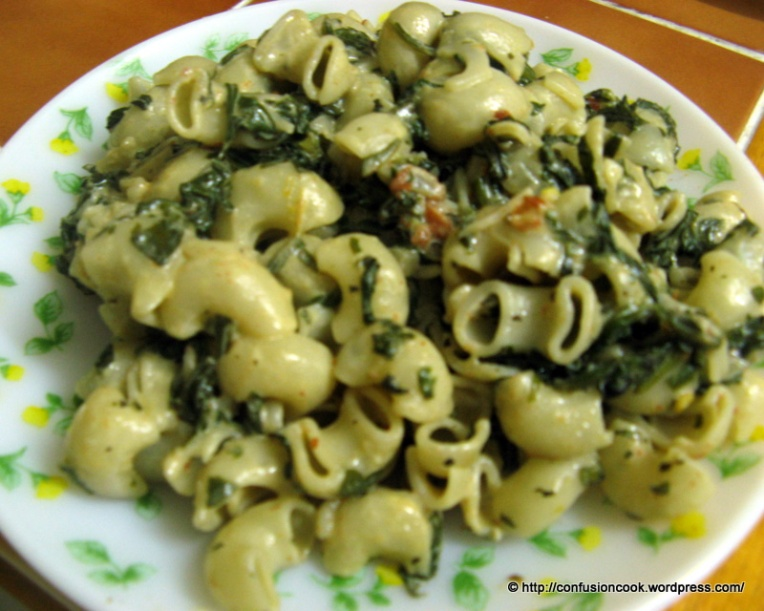 Spinach Macaroni Pasta