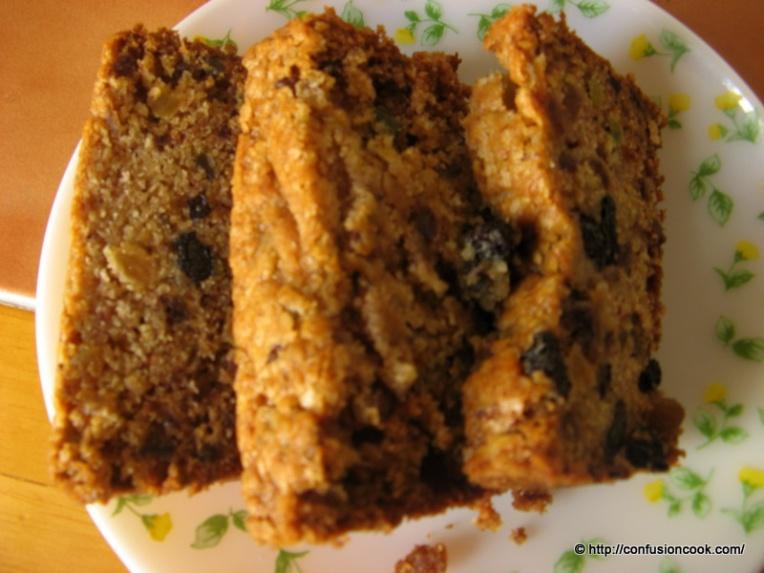 Eggless Xmas Fruit Cake