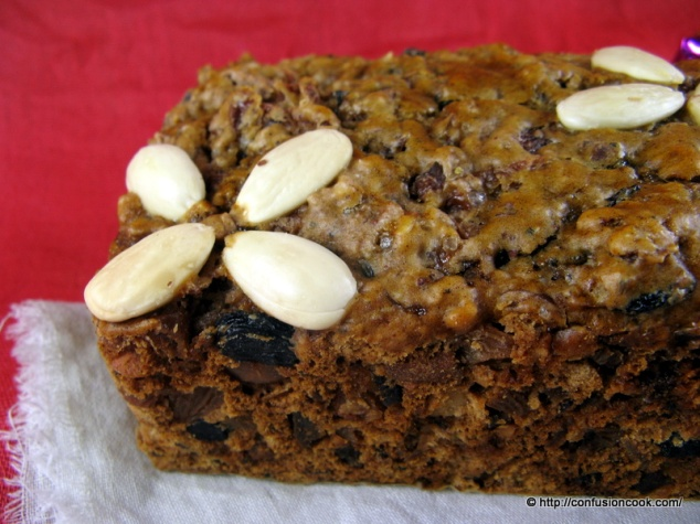 Eggless Christmas Cake with soaked fruits