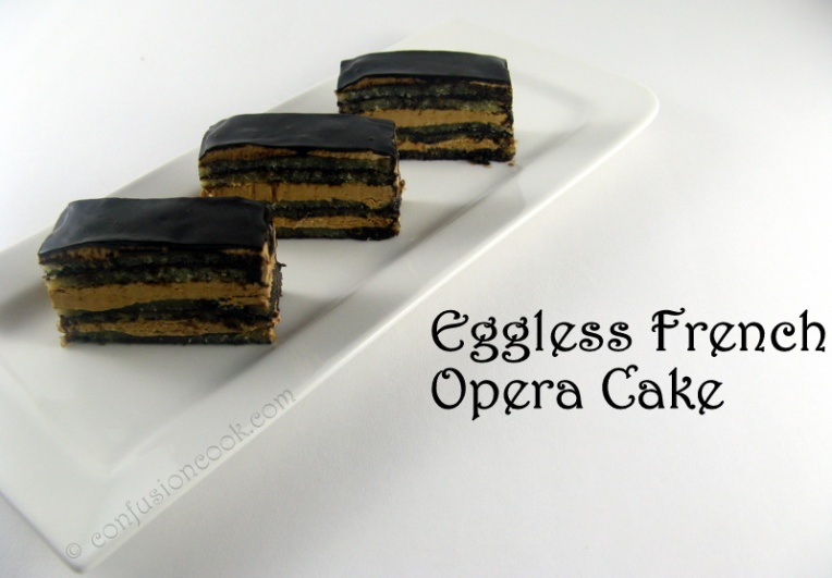 Eggless French Opera Cake